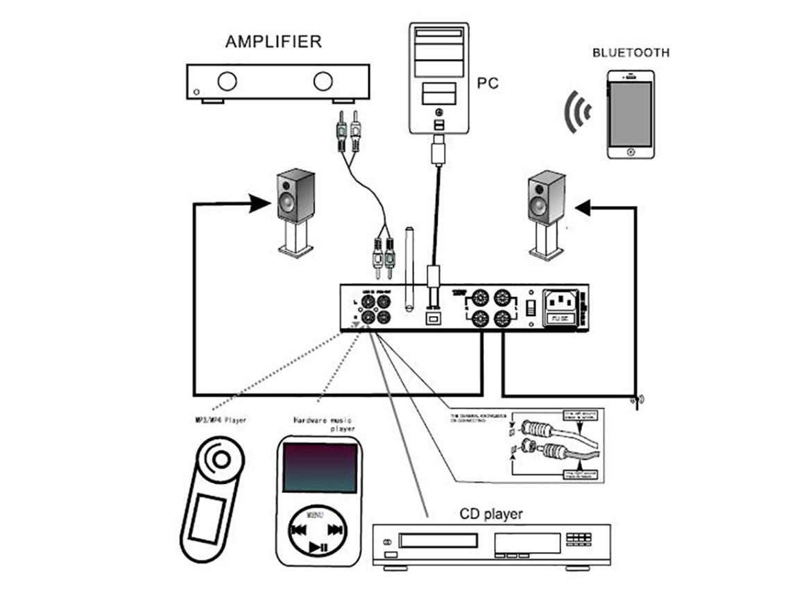 dared mp 5bt hifi audiophiles valve vacuum tube amplifier