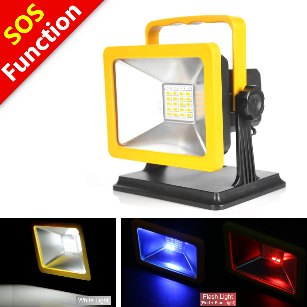 Portable 15W LED Rechargeable Flood Light Work Camping ...