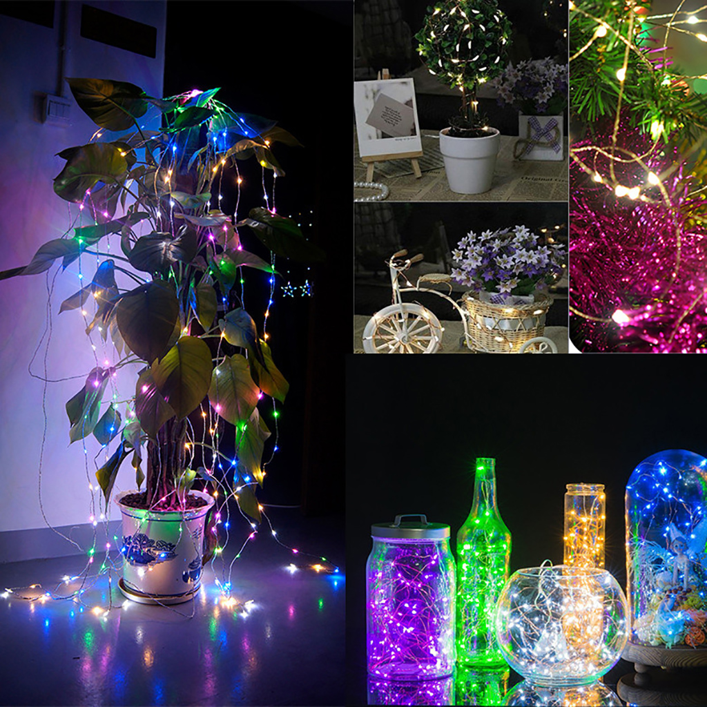 Led String Lights Dimmable : Dimmable Led String Lights 33FT 100LED Copper Wire Starry String Twinkle Lights